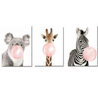 CHENISTORY 60x75cm Frame Diy Painting By Numbers Kit Animal Zebra Wall Art Picture By Numbers Coloring By Numbers For Home Decor