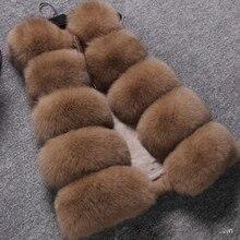 High Grade Female 2016 new winter Fraux fur coat Khaki Color imitation fox fur vest coat sleeveless SMLXLXXL3XL4XL5XL plus size