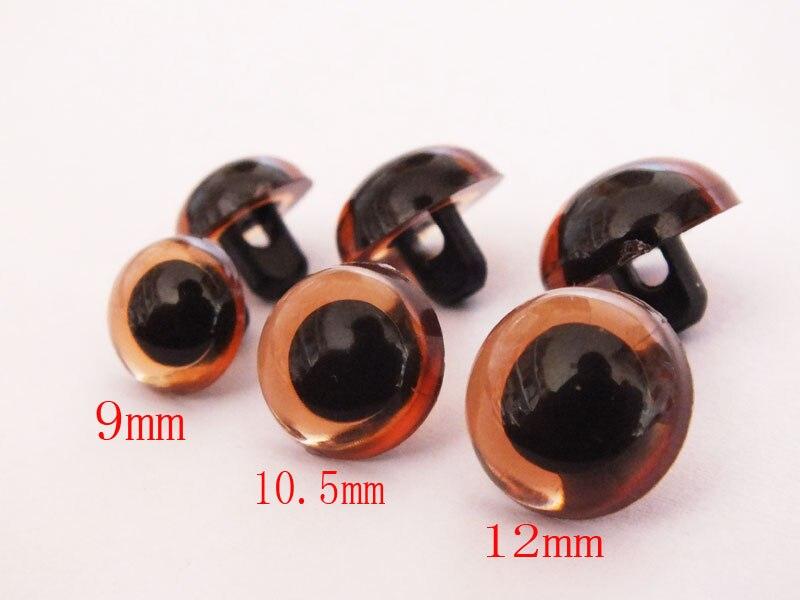 Пришить коричневый цвет медведь глаза/глаза безопасности --- 9 мм/10.5 мм/12 мм можно выбрать