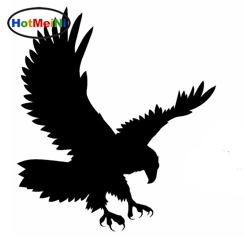 HotMeiNi Soaring Eagle Justice Domineering Birds Car Sticker for Wall Motorcycles Car Styling Reflective Vinyl Decal 10 Colors hot sale 1pc longhorn hilux 900mm graphic vinyl sticker for toyota hilux decals badges detailing sticker car styling accessories
