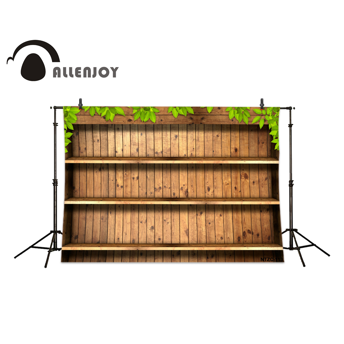 Allenjoy photography backdrops Wooden shelves plant wood brick wall backgrounds for photo studio allenjoy christmas photography backdrops christmas background gifts white brick wall wooden floor bulbs table for baby for kids