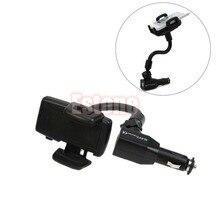 Car Cigarette Lighter Mount Stand Holder + 2 USB Port Charger For Phone for car accessories стоимость