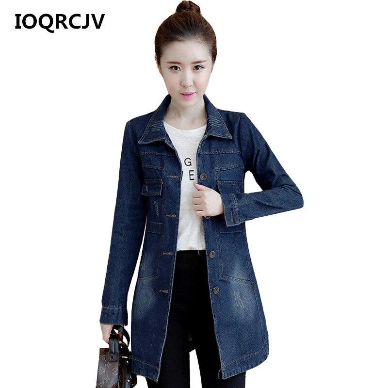 2019 Autumn Winter Plus Size 5XL Denim   Jacket   Women   Basic     Jacket   Loose Casual Blue Jeans Coat Vintage Female Outerwear Top R214