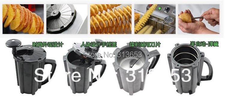 GZZT Elektro Tornado Kartoffel Spiral Cutter Edelstahl Spirale Kartoffel Slicer Kartoffel Turm, Der Twist Schredder - 6