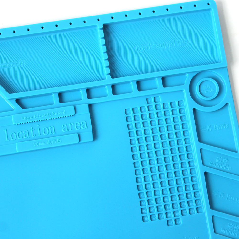 Image 3 - S 170 Insulation Pad Heat Resistant Silicon Soldering Mat 480mm X 318mm Working Pad Desk Platform Solder Rework Repair ToolsElectric Soldering Irons   - AliExpress