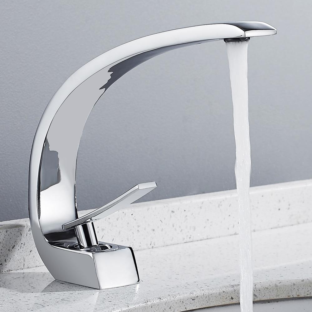 Frap new bath Basin Faucet Brass Chrome Faucet Brush Nickel Sink Mixer Tap Vanity Hot Cold