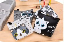 New Kawaii CUTE Little Cats PU  Coin Purse Wallet Pouch Case BAG ; Lady's Pocket Change Bags Pouch