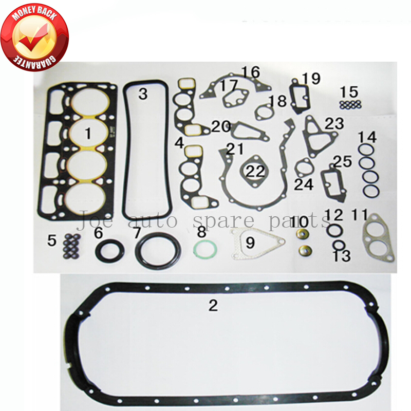 3K 3KC Engine Full gasket set kit for Toyota Corolla Starlet 1.2L 1166cc 1972-1982 50029100 0411124040 0411124021 0411124020