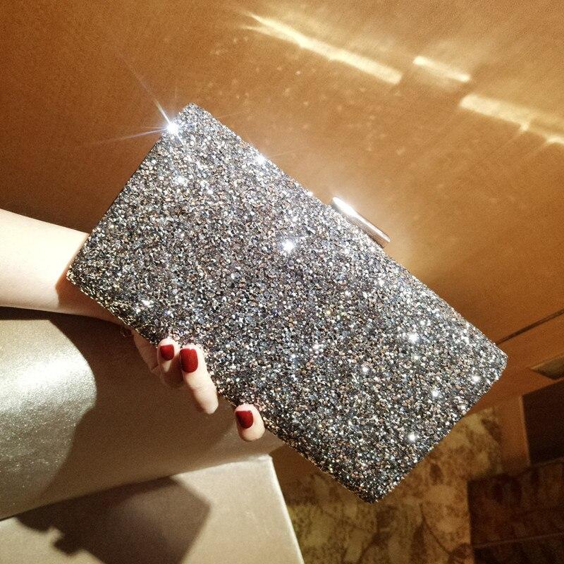 где купить 2018 New Fashion Brand Style Women's Evening Bags Full Crystal Diamonds Elegant Ladies' Clutches Bag Female Party Small Purse по лучшей цене