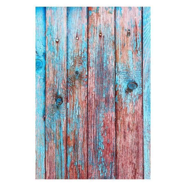 Alloyseed Blue Color Wood Grain Wall Photograph Fotografia Background 90x150cm For Studio Photo Backdrop Cloth Home Decoration
