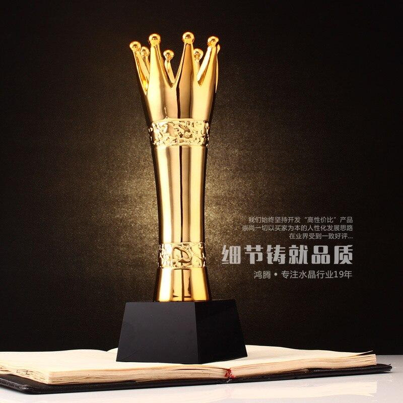 Custom Creative: High Grade Resin Crown Trophy Custom Metal Trophies