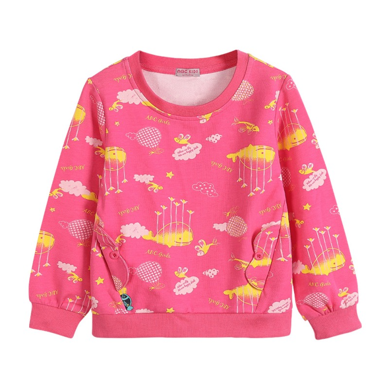 Hot Children Cartoon Print Cute Round Neck Sweatshirt 2018 New Autumn Boys Girls Casual Tops Kids Boys Girls Clothing 2-12Y FHot Children Cartoon Print Cute Round Neck Sweatshirt 2018 New Autumn Boys Girls Casual Tops Kids Boys Girls Clothing 2-12Y F