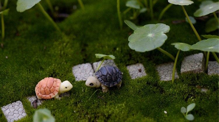 1pc Mini Tortoise Model Fairy Garden Miniatures Succulents Micro Landscape Decor