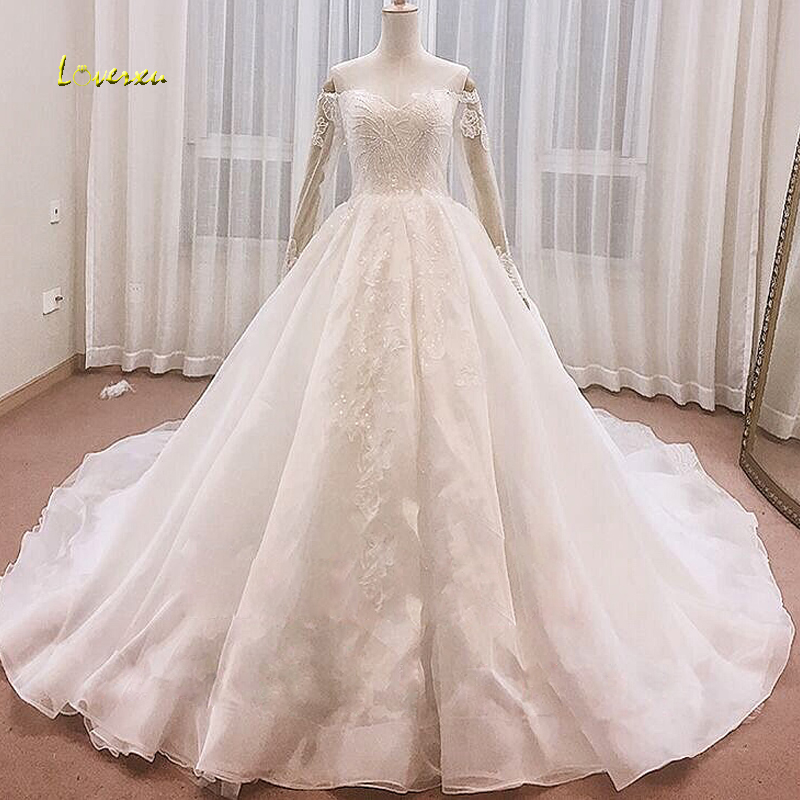Wedding Dresses With Sweetheart Neckline And Sleeves: Loverxu Charming Sweetheart Neck Beaded A Line Wedding