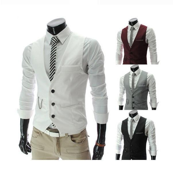 Traje hombres moda chaleco del dise o de marca de vestir for Disenos de chalecos