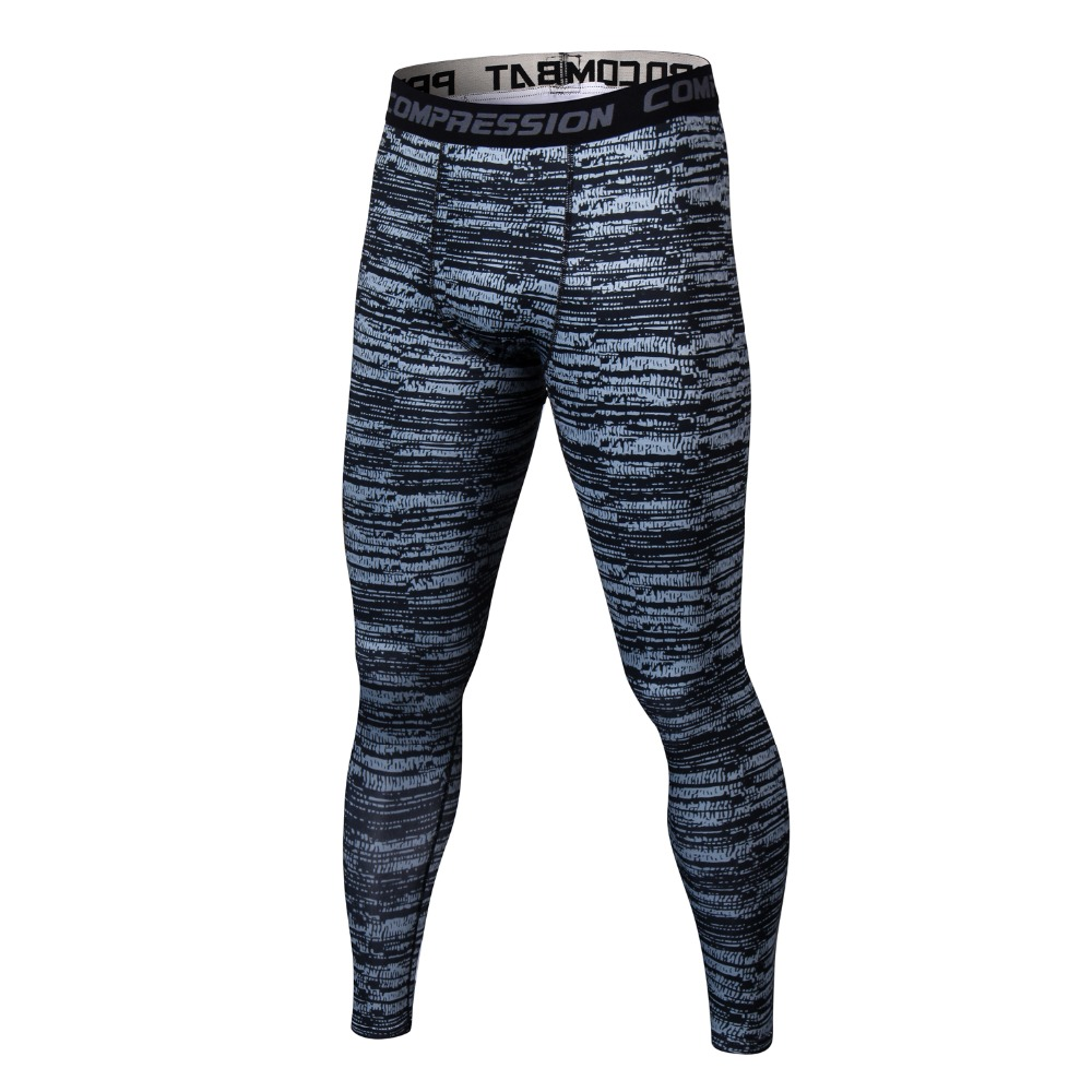 Men Fitness Bodybuilding Tight Leggings Compression Pants Camouflage Joggers Trousers Male Skinny Leggings Slim Fit Pants