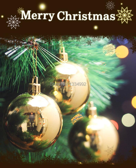 Shiny Gold Round Christmas Decoration Ball Bauble 6CM 6pc Christmas Tree  Hanging Ornaments Gift Decorate XMAS