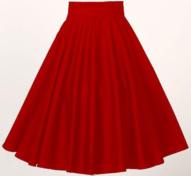 dcb10b00d € 20.13 10% de DESCUENTO|Ropa vintage para mujer en línea tiendas alta  cintura roja Falda midi círculo al por mayor dropshipping proveedores en ...
