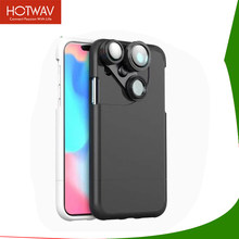 HOTWAV 4 In 1 Mobile Wide Lens For iPhone X 6 Plus Lens Case 15X Macro Lens +Wide Angle Lens +2X Magnifier +Fisheye Camera(China)