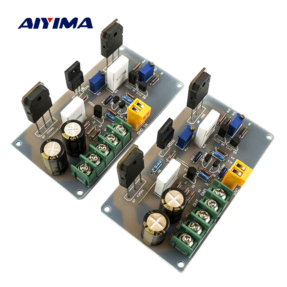 Aiyima 2PC A30 Audio Amplifier Board HI-FI 2 Channels Fever Pure Class A Home Amplifier Finished Board 30W+30W aiyima hi fi pam8610 audio amplifier board 15w 2 class d dual channel digital amplifier board dc12v