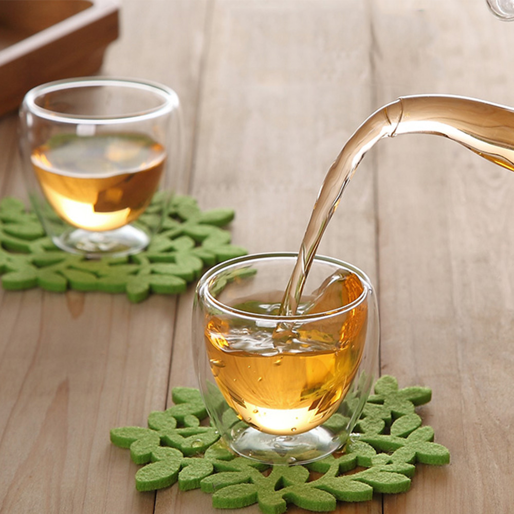 6Pcs Double Glass Coffee Cup, Italian Concentrated Cup ...