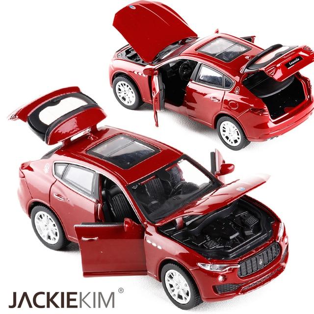 high simulation new maserati levante 1:32 car model suv pull back