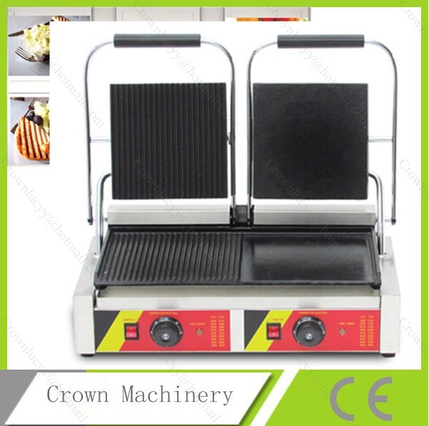 commercial panini grill panini press machine electric. Black Bedroom Furniture Sets. Home Design Ideas