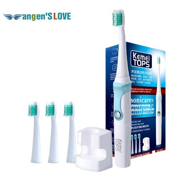 Водонепроницаемый KM-907 Универсальный Sonic Электрическая Зубная Щетка Автоматическая Индуктивной Зарядки Зубная Щетка Для Детей