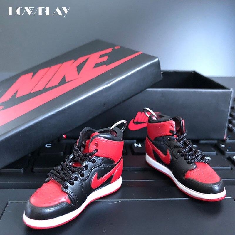 HowPlay AJ1 модель трехмерной брелок рюкзак кулон солдат обувь творческий подарок ручной работы Air Jordan баскетбольной обуви