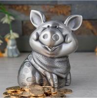 Europe metal pig piggy bank cash money box Zinc alloy storage box money bank kids/saving box for home Decoration box SNG012
