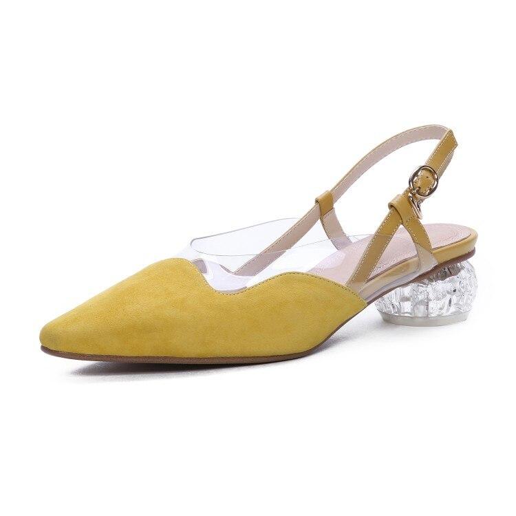 Cuir Nude Avec Mode yellow À Dame Nouvelle black Pointues Chaussures Brillant Hauts En Élégante Printemps Talons Pompe x6Swqpv