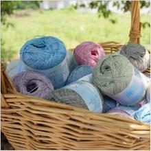 Free shipping 240g(40g*6pcs)l In The Spring And Summer Snow Thread Fine Sub Thread Crochet Thread Hand Knitting Baby Yarn