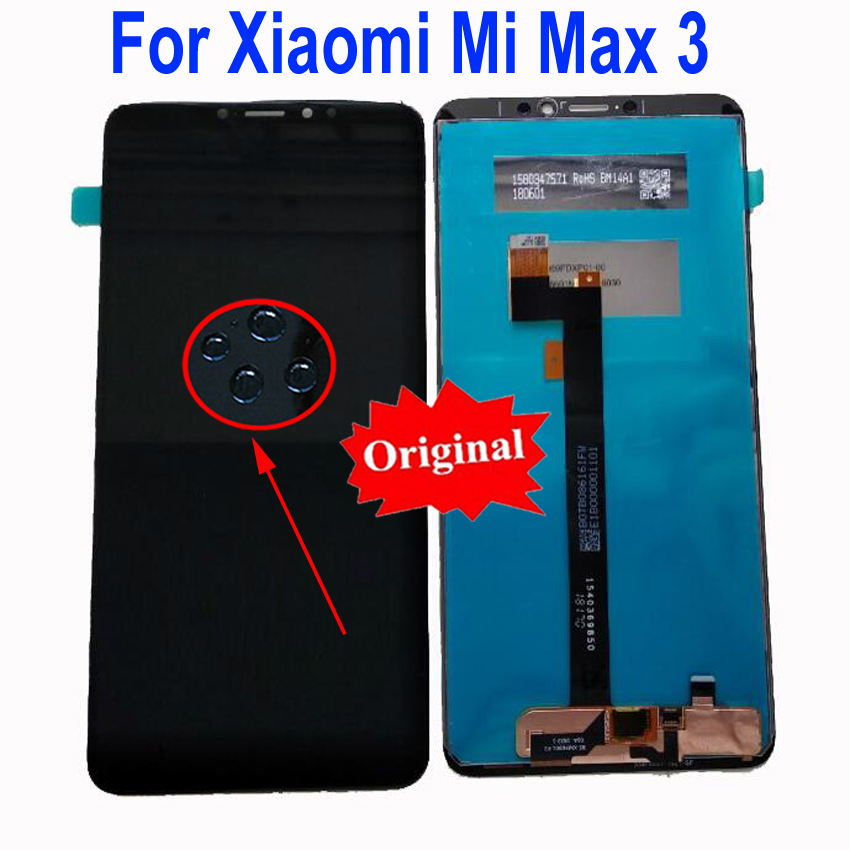 Original Best Working Max3 LCD Display Touch Screen Digitizer Assembly For Xiaomi Mi Max 3 Replacement Sensor Mobile PanelOriginal Best Working Max3 LCD Display Touch Screen Digitizer Assembly For Xiaomi Mi Max 3 Replacement Sensor Mobile Panel