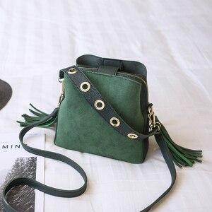 Image 3 - Bolish Women Fashion PU Shoulder Bag Female Vintage Daily Shopping Handbag All Purpose Tassel Messenger Bag Causal Dames Tassen