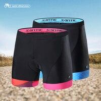 Santic Cycling Shorts Women 2017 Coolmax 4D Padded Shorts Shockproof MTB Road Bike Pro Shorts Team