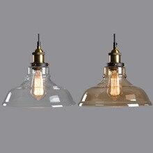 E27 держатель лампы Старинные промышленные лампы Тени ресторан светильник абажур Стекло Ретро Подвеска Лам Огни Фонарик Stytle