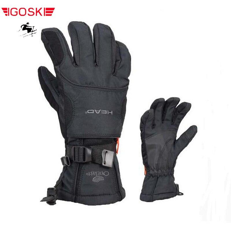 Зимние лыжные сноубордические перчатки ветрозащитные водонепроницаемые для мужчин и женщин
