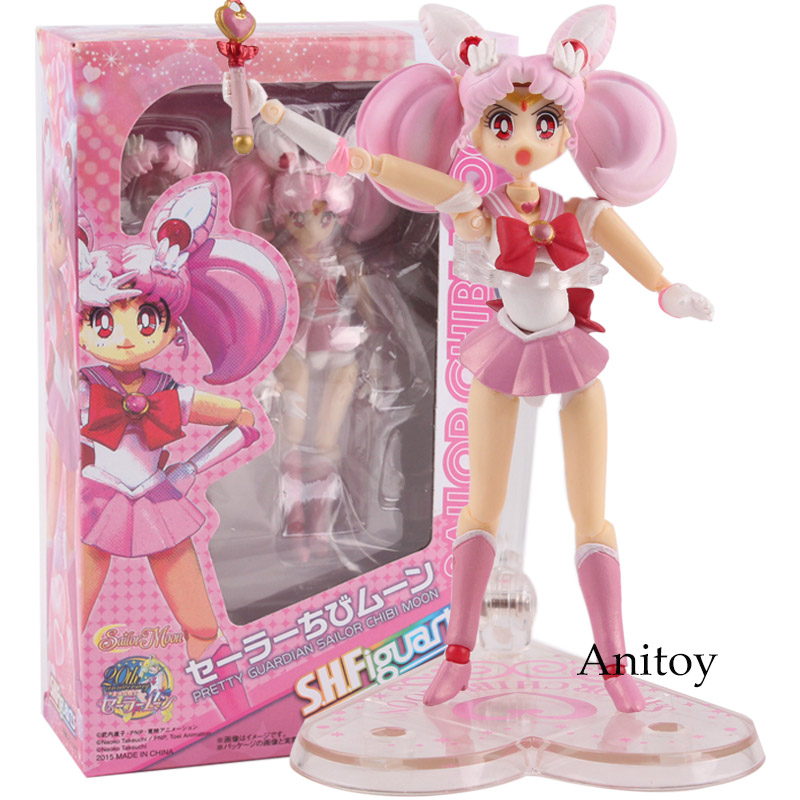 SHF S.H.Figuarts Sailor Moon Sailor Chibi Moon Chibi Usa PVC Action Figure Collectible Model Toy