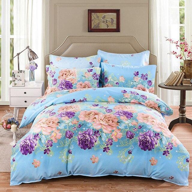 Soft Plant Cashmere Thickening Super King Single Size  Stripe Bed Linen  Geometric Pattern Bedding Set