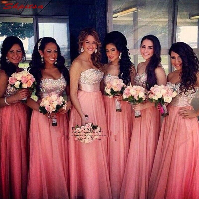 Elegant Bridesmaid Dresses Long for Wedding Party Women Chiffon Brides Maid Dresses