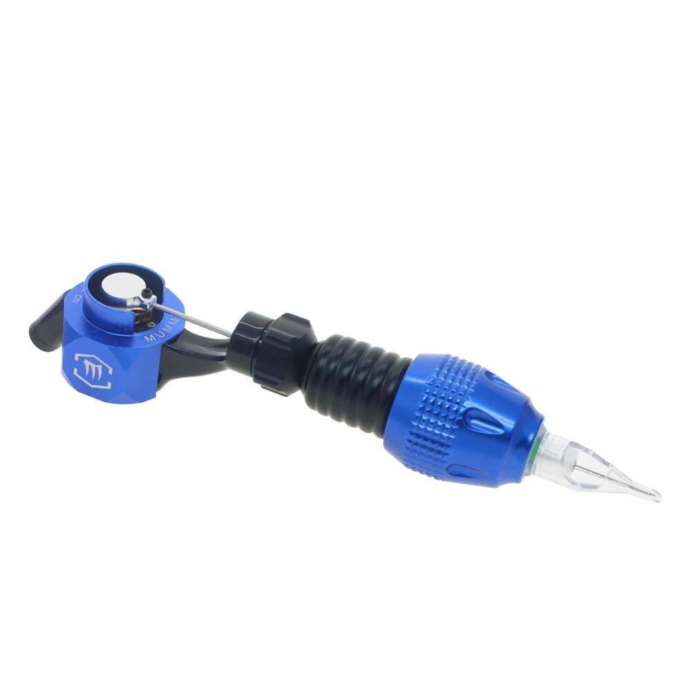Tatuagem Rotary Machine Gun com Cartucho Tatuagem Aperto Ajustável (azul)
