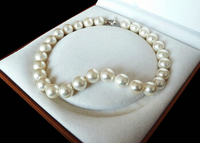 Rare Huge Genuine White 14mm South Sea Shell Pearl Heart Clasp Necklace 18 AAA Factory Wholesale