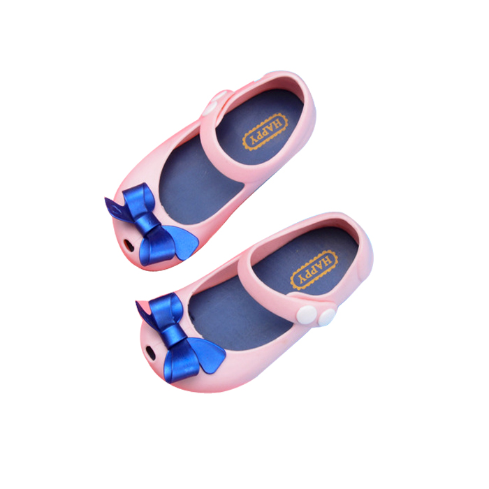 Melissa Bow Mini Girls Shoes 2018 New Summer Children Jelly Shoes Candy Soft Bottom Princess Girl Fish Head Sandals Kids ...