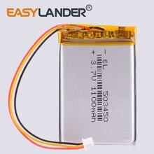 3 thread 503450 3.7V 1100mAH PLIB polymer lithium ion / Li-ion battery for GPS mp3 mp4 mp5 dvd bluetooth mode car dvr navigator