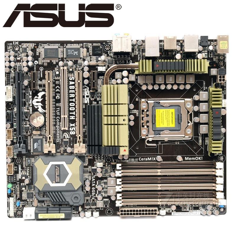 Asus SaberTooth X58 Desktop Motherboard X58 Socket LGA 1366 i7 Extreme DDR3 24G ATX UEFI BIOS Original Used Mainboard On Sale new original motherboard x58 extreme boards lga 1366 ddr3 24gb atx mainboard for x5570 x5650 w5590 x5670 l5520 cpu free shipping