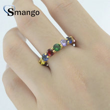 5Pieces,Women Fashion Jewelry,The Rainbow Series,The Round Zircon Ring, Gold Colors, Can Wholesale