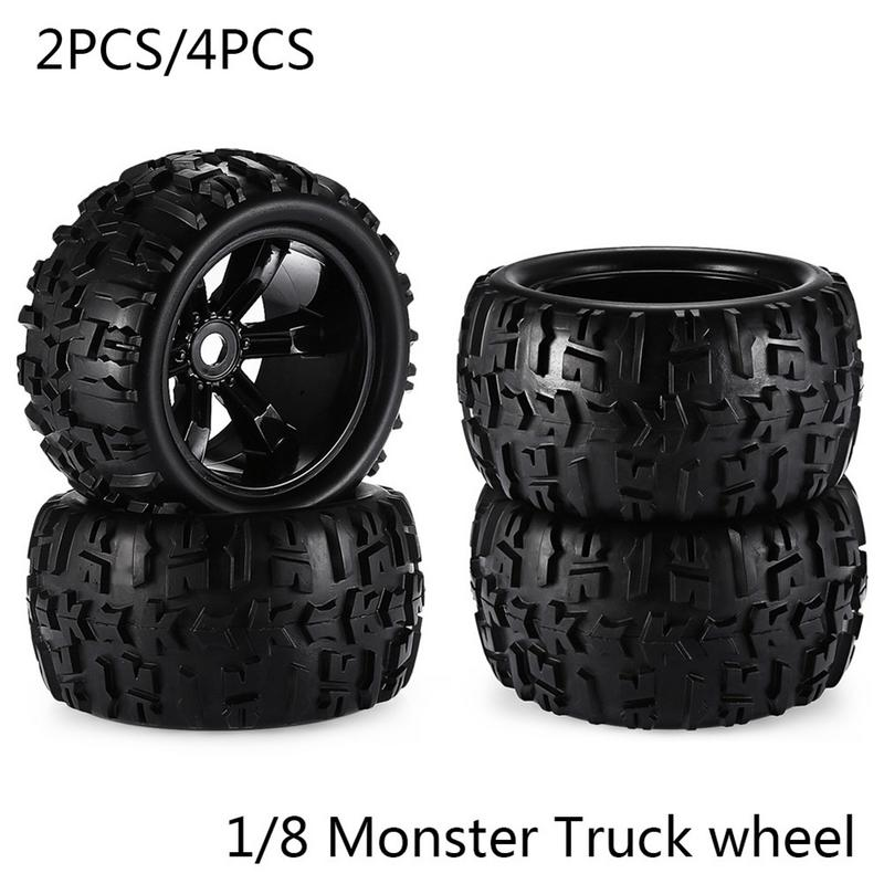 RC Car Off Road 1/8 Monster Truck Bigfoot Tyre Tires 17mm Hex Wheel For Traxxas HSP 89014 89015 89016 rc car spare parts accessories wheel rims tires wheels complete for hsp 1 8 scale off road monster truck 94892