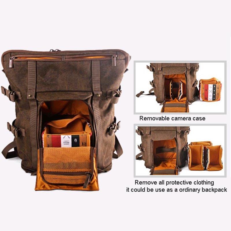 Venta al por mayor de la Colección Nacional Geográfica de África NG A5290 A5280 mochila para ordenador portátil SLR bolsa de lona bolsa de foto de cuero auténtico - 3