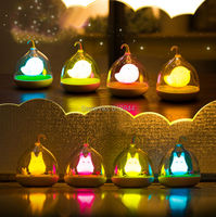 Creative Lovely Birdcage Rechargeable Touch Dimmer Control LED Night Lamp
