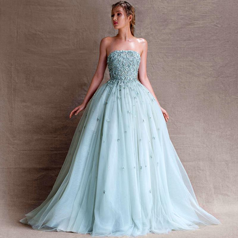 Online Get Cheap Light Blue Strapless Prom Dress -Aliexpress.com ...